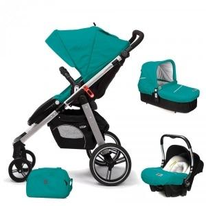 Cochecito de bebé Casualplay Loop Match 3 Aluminio + Portabebés Baby 0+ + Casualplay Cot + Bolso Allport