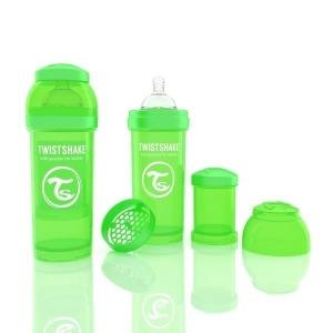 Biberón Twistshake Anticólico 260 ml. Verde