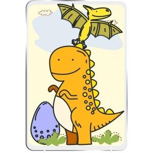 Cuadro Infantil Kirolin sobremesa Dino Amarillo