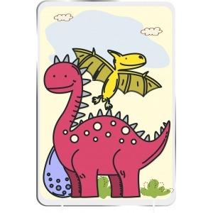 Cuadro Infantil Kirolin sobremesa Dino Rojo