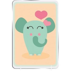 Cuadro Infantil Kirolin sobremesa Elefanta