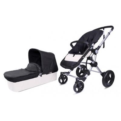 Cochecito Baby Ace 042 Chasis Plata + Base Blanco Roto + Set Lona Fresh
