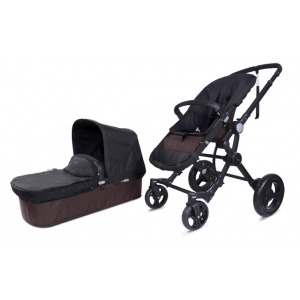 Cochecito Baby Ace 042 Chasis Negro + Base Choco + Set Lona Fresh