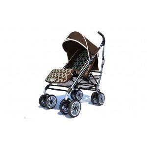Silla de Paseo Baby Luxe Chasis Plata, Base Choco y Funda T&L Sahara