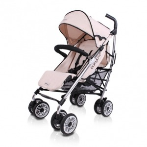 Silla de Paseo Baby Luxe Chasis Plata y Base Marfil