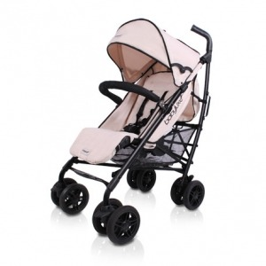 Silla de Paseo Baby Luxe Chasis Negro y Base Marfil