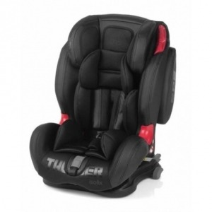 Silla de Coche Grupo 1/2/3 Be Cool Thunder 2019 con Isofix Black Crown