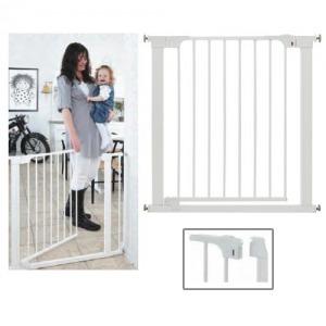 Barrera de puerta con cierre automático Babydan Blanca