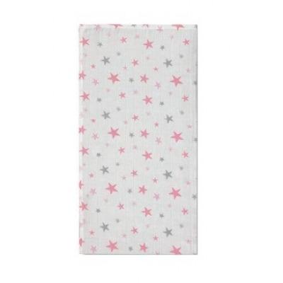 Muselina Bambu Stars Rosa Pirulos