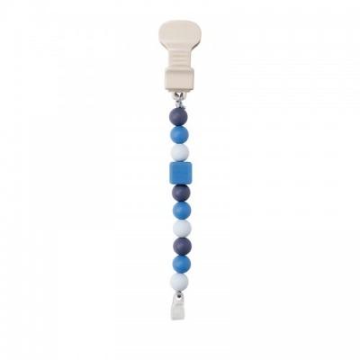 Cadena Chupete Silicona Azul Lapidou