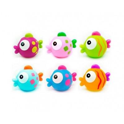 Bote de 6 muñecos baño Olmitos Tropical Fishes
