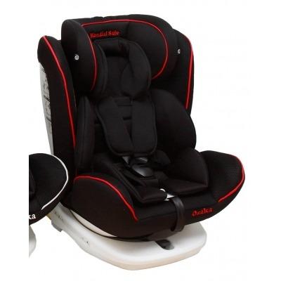 Silla de coche Mondial Safe Osaka Isofix Negra con Vivo Rojo