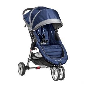 Cochecito Duo Baby Jogger City Mini 3 Azulón/Gris + Capazo Deluxe Gris + Barra delantera
