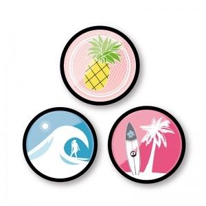 Chapas decorativas Aloha para mochila Roller