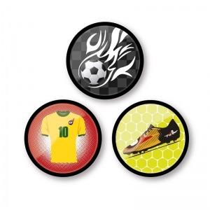 Chapas decorativas Goal para mochila Roller