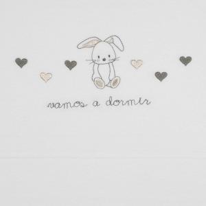 Sabana Minicuna Sonpetit Algodón Conejo Plata Blanco