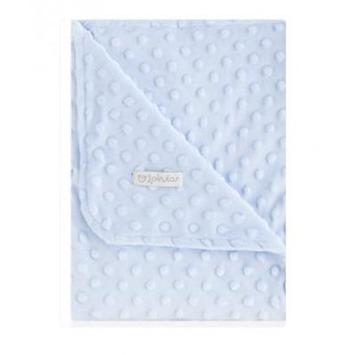 Manta Pirulos Doble Cara de 80 x 110 Dots Azul