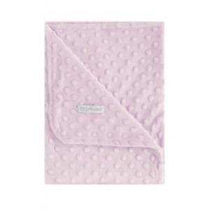 Manta Pirulos Doble Cara de 80 x 110 Dots Rosa