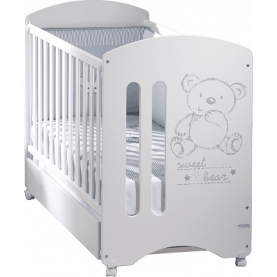 Cuna Micuna Sweet Bear Basic blanco