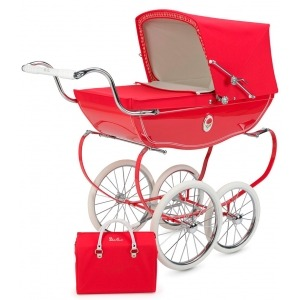 Cochecito de muñecas Silver Cross Chatsworth Poppy + Bolso