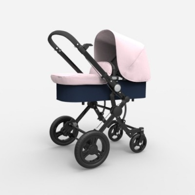 Cochecito Baby Ace Travel System Negro Rosa