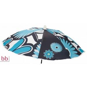 Sombrilla silla  Flores turquesa