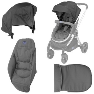 Pack para cochecito Chicco Duo Urban Anthracite