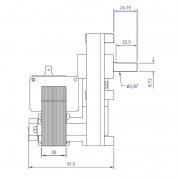Motorreductor Mellor T3 - 2 rpm Ø9,5 mm