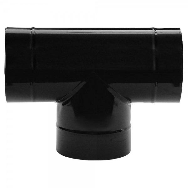 Te Estufa Negro Vitrificado 200 mm. 90°