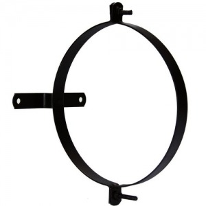 Abrazadera Para Tubo Estufa Vitrificada Con Soporte 110 mm. (2 Piezas)
