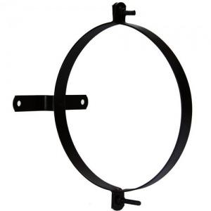 Abrazadera Para Tubo Estufa Vitrificada Con Soporte 140 mm. (2 Piezas)