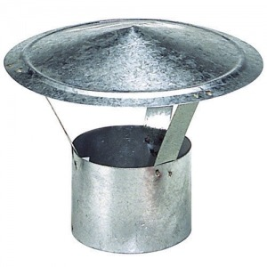 Sombrero Galvanizado Para Estufa de 110 mm.
