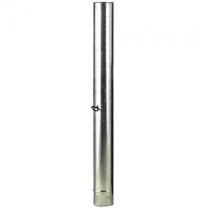 Tubo Estufa Galvanizado de 100 mm. con Llave