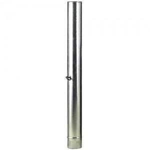 Tubo Estufa Galvanizado de 110 mm. con Llave