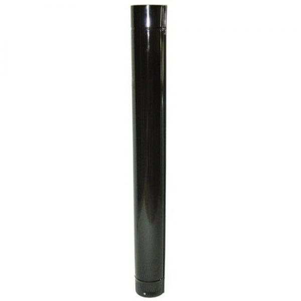 Tubo Estufa Color Negro Vitrificado de  90 mm.