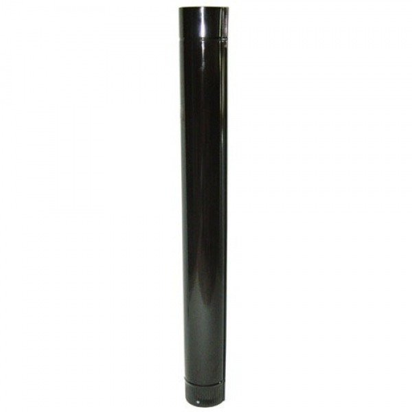 Tubo Estufa Color Negro Vitrificado de 150 mm.