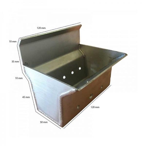 Brasero de acero inoxidable refractario Ecoforest ECO II Mini