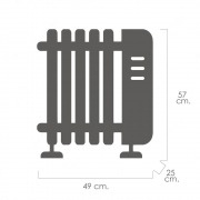 Radiador Emisor Aceite Pared 400 W.