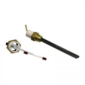 Resistencia de encendido de cuarzo 300W Ø11,5x4 x 90 mm con rosca 3/8 (Versión horadada)