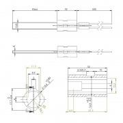 Resistencia de encendido a baja tensión 24VAC 120W Ø10,8x4 x 90 mm
