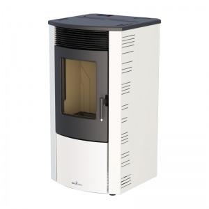Estufa de pellets canalizable Bronpi ABRIL 12 kW con limpieza automática