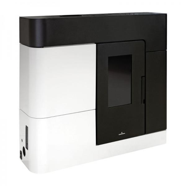 Estufa de pellets hidro extraplana Bronpi CLARA 16 kW Negro y Blanco