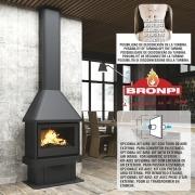 Chimenea de leña Bronpi LISBOA 11 kW