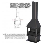 Chimenea de leña Bronpi LISBOA 12 kW tres caras vision