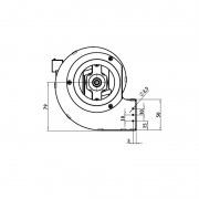 Ventilador centrífugo CFD-DA 80x83 - 35