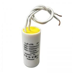 Condensador para motores 1 Microfaradio con cables