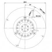 Motor extractor de humos 68W - 2530 rpm (R2E180-CQ82-01)
