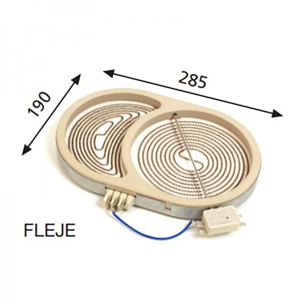 Resistencia placa encimera 2.300W / 1.500W 230V
