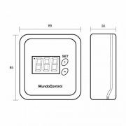 Termostato digital de superficie Mundocontrol FN-48