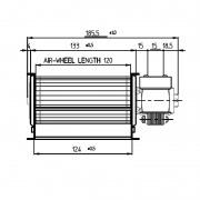Ventilador tangencial TGA 120DX
